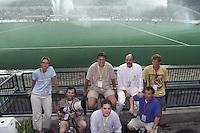WK Hockey, Maleisie, journalisten Norbert Kleinherenbrink, Hans Woudstra, Geerhardt deGrooth, Jan Balk, Mark Hoogstad, Tinke Landsmeer, Koen Suyk,