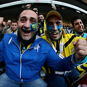 Fenerbahce's supporters during their Turkish super league soccer derby Fenerbahce between Galatasaray at the Sukru Saracaoglu stadium in Istanbul Turkey on Sunday 25 October 2015. Photo by Kurtulus YILMAZ/TURKPIX