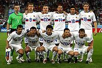 GEPA-1006086282 - INNSBRUCK,AUSTRIA,10.JUN.08 - FUSSBALL - UEFA Europameisterschaft, EURO 2008, Spanien vs Russland, ESP vs RUS. Bild zeigt (hinten von links) Igor Akinfeev (RUS), Denis Kolodin (RUS), Aleksandr Anyukov (RUS), Roman Shirokov (RUS), Yuri Zhirkov (RUS), Roman Pavlyuchenko (RUS), (vorne von links) Sergei Semak (RUS), Konstantin Zyrianov (RUS), Diniyar Bilyaletdinov (RUS), Igor Semshov (RUS), Dmitri Sychev (RUS). <br />Foto: GEPA pictures/ Doris Schlagbauer