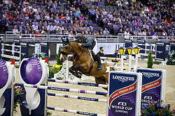 White Keean, CAN, For Freedom Z<br /> Round 2<br /> Longines FEI World Cup Jumping, Omaha 2017 <br /> © Hippo Foto - Dirk Caremans<br /> 01/04/2017