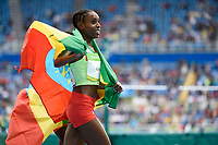 Almaz Ayana (ETH) women's 10000m Gold medal and world record during the Olympic Games RIO 2016, Athletics, on August 12, 2016, in Rio, Brazil - Photo Jean Marie Hervio / KMSP / DPPI