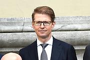 Het nieuwe kabinet Rutte III op het bordes van Paleis Noordeinde. <br /> <br /> Op de foto:  Sander Dekker -  Rechtsbescherming