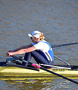 Boston, Great Britain. Women's Single Scull GBR W1X . Melanie WILSON,  compete's in the 2013 GBRowing second assessment, Boston Rowing Club, River Witham, Lincolnshire.    Saturday  09/02/2013   [Mandatory Credit. Peter Spurrier/Intersport Images]