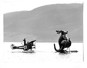 Loch Nes. Surreal fishing expedition. Loch Nes Monster. Cosmo Hulton, David Kirke, Marella Oppenheim.© Copyright Photograph by Dafydd Jones 66 Stockwell Park Rd. London SW9 0DA Tel 020 7733 0108 www.dafjones.com