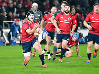 Rugby Union - 2019 / 2020 Champions Cup: Ospreys vs. Munster<br /> <br /> Tyler Bleyendaal of Munster passes the ball out, at The Liberty Stadium.<br /> <br /> COLORSPORT/WINSTON BYNORTH