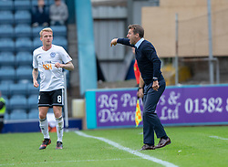 Dundee's manager Neil McCann. Dundee 0 v 3 Ayr United, Scottish League Cup Second Round, played 18/8/2018 at the Kilmac Stadium at Dens Park, Scotland.