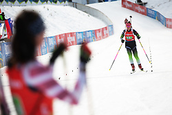 Urska Poje (SLO) finishing the Single Mixed Relay 6 km / 7,5 kmn at day 3 of IBU Biathlon World Cup 2019/20 Pokljuka, on January 23, 2020 in Rudno polje, Pokljuka, Pokljuka, Slovenia. Photo by Peter Podobnik / Sportida