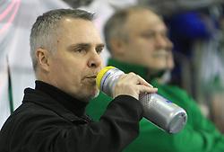 Coach of Olimpija Randy Edmonds at 39th Round of EBEL League ice hockey match between HDD Tilia Olimpija and HK Acroni Jesenice, on December 30, 2008, in Arena Tivoli, Ljubljana, Slovenia. Tilia Olimpija won 4:3. (Photo by Vid Ponikvar / SportIda).