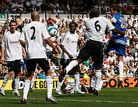 Photo: Steve Bond.<br />Derby County v RCD Espanyol. Pre Season Friendly. 04/08/2007.  Raul tamudo (R) and Darren Moore (No 6) in goalmouth action