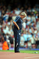 F.A. Barclaycard Premiership. West Ham v Wigan. 16.08.08<br />Pic by Karl Winter Fotosports International<br />Dejected Wigan boss Steve Bruce sees his team slide to defeat on the opening day of the season