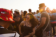The drum circle at Venice Beach. Hundreds of Angelenos come out to the beach to dance and beat on drums till sunset.