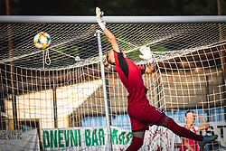 Ekaterina Miklashevich of FC Nike unable to save the ball from free kick during football match between ZNK Pomurje and FC Nike in 2nd Round of UWCL qualifying 2019/20, on Avgust 10, 2019 in Sportni Park Beltinci, Beltinci, Slovenia. Photo by Blaž Weindorfer / Sportida