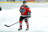 KELOWNA, CANADA, OCTOBER 29: Tyson Baillie #24 of the Kelowna Rockets stands on the ice as the Kamloops Blazers visit the Kelowna Rockets  on October 29, 2011 at Prospera Place in Kelowna, British Columbia, Canada (Photo by Marissa Baecker/Shoot the Breeze) *** Local Caption *** Tyson Baillie;