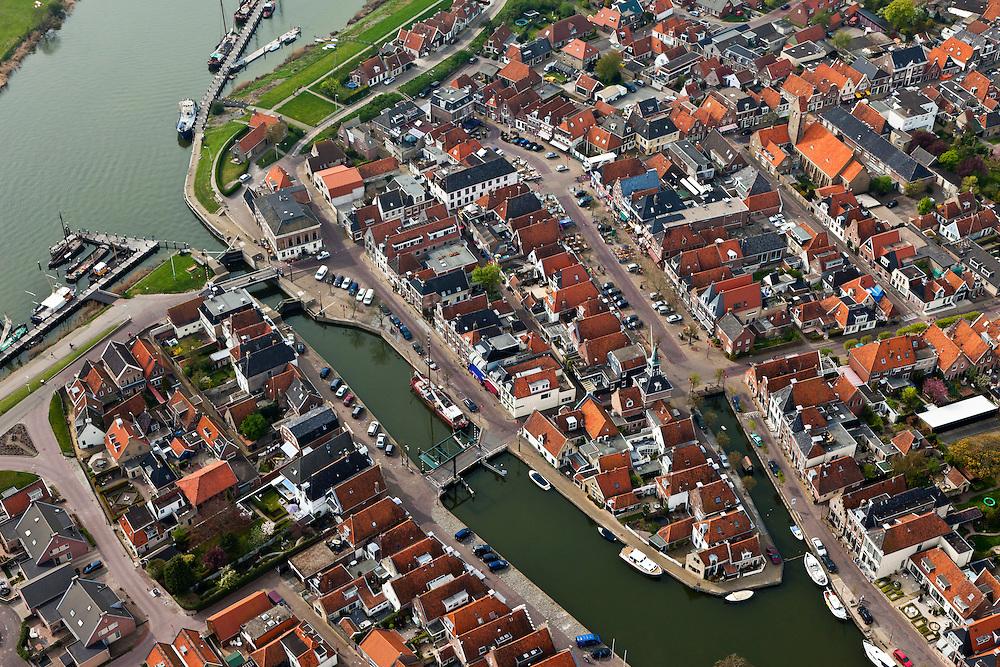 Nederland, Friesland, gemeente Wonseradeel, 28-04-2010; Makkum..luchtfoto (toeslag), aerial photo (additional fee required).foto/photo Siebe Swart.--------------