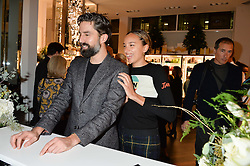 JACK GUINNESS and PHOEBE COLLINGS-JAMES at the launch of the Space NK Global Flagship store at 285-287 Regent Street, London on 10th November 2016.