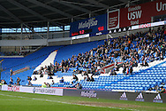general view of  as the match is played with a very low attendance. The Emirates FA Cup, 3rd round match, Cardiff city v Fulham at the Cardiff city stadium in Cardiff, South Wales on Sunday 8th January 2017.<br /> pic by Andrew Orchard, Andrew Orchard sports photography.