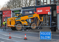 Digger used to rip cash machine from shop wall, Edinburgh, 31 January 2019