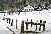 Nederland, Ubbergen, 13-1-2017De eerste sneeuw van deze winter is gevallen. De Elyseese velden in de heerlijkheid Beek.Foto: Flip Franssen
