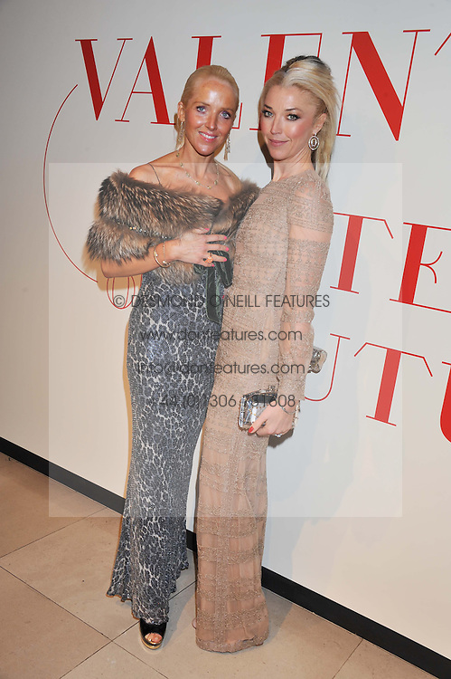 Left to right, sisters CLARE VAN DAM and TAMARA BECKWITH at a private view of 'Valentino: Master Of Couture' at Somerset House, London on 28th November 2012.