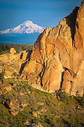Mount Hood as seen from Smith Rock State Park in Oregon