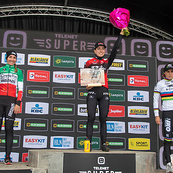 2019-10-19: Cycling: Superprestige: Boom: Alice Maria Arzuffi takes the win , Eva Lechner was second and Sanne Cant ends as third