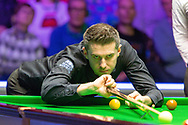 Action from the first session of  the World Snooker 19.com Scottish  Open Final Mark Selby vs Jack Lisowski at the Emirates Arena, Glasgow, Scotland on 15 December 2019.
