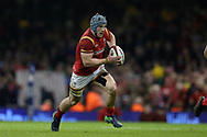 Jonathan Davies of Wales in action.RBS Six Nations 2017 international rugby, Wales v Ireland at the Principality Stadium in Cardiff , South Wales on Friday 10th March 2017.  pic by Andrew Orchard, Andrew Orchard sports photography