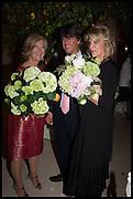ANN SINGER; CHRISTOPHER LEACH; BEBE VAN ZUYLEN, Cartier dinner in celebration of the Chelsea Flower Show. The Palm Court at the Hurlingham Club, London. 19 May 2014.