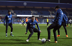 Derby County's Jamie Hanson warms up before the Sky Bet Championship match at Loftus Road, London.