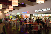 Fast food restaurants at Manufaktura a center for entertainment culture and shopping Balucki District Lodz Central Poland