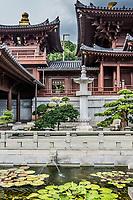 fountain Chi Lin Nunnery Kowloon in Hong Kong
