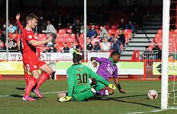 Bristol City's Kieran Agard takes a shot at goal but is ruled offside  - Photo mandatory by-line: Dougie Allward/JMP - Mobile: 07966 386802 - 07/03/2015 - SPORT - Football - Crawley - Broadfield Stadium - Crawley Town v Bristol City - Sky Bet League One