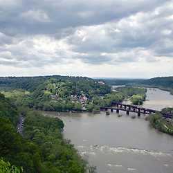 Panarama View of Harpers Ferry on a Stormy May Afternoon