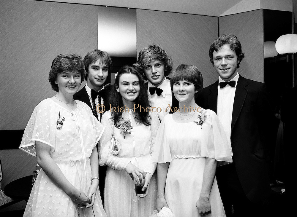 Fresh faces at the eighteenth annual Notres Dames des Missions Debutantes Ball, at Jury's Hotel, Dublin. (l–r:) Miss Emer Fannin, Templeogue, Dublin, with Ted O'Sullivan; Miss Fiona Daly, Ardilea, Dublin, with Ronan Hannigan; and Miss Maria Gahan, Stepaside, County Dublin, with Philip O'Connor.<br />