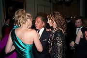ARIELLE DOMBASLE; VALENTINO; MARISA BERENSON, Dinner for Jacqueline de Ribes after Legion d'honneur award. 50 Rue de la Bienfaisance. Paris.