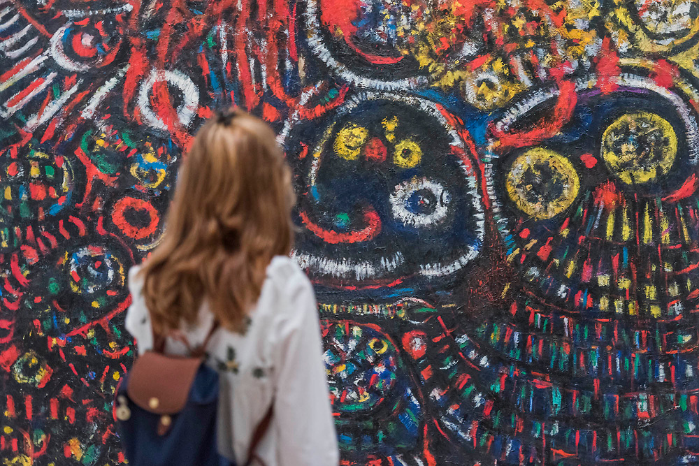 Alice in Wonderland, 1952 - Princess Fahrelnissa Zeid: the UK's first retrospective of a pioneering artist best known for her large-scale colourful canvases, fusing European approaches to abstract art with Byzantine, Islamic and Persian influences. The exhibition is at Tate Modern from 13 June – 8 October 2017.