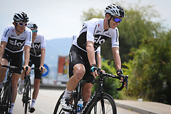 July 16, 2018 - Annecy, FRANCE - Team Sky riders with 01 British Chris Froome of Team Sky pictured during a training session the first rest day in the 105th edition of the Tour de France cycling race, in Annecy, France, Monday 16 July 2018. This year's Tour de France takes place from July 7th to July 29th. BELGA PHOTO DAVID STOCKMAN (Credit Image: © David Stockman/Belga via ZUMA Press)
