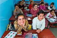 Girls in yeshiva, Djerba Island, Tunisia