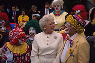 """First Lady Barbara Bush 41, at a """"Say no to Drugs' event during the administration of H.W. Bush (Bush 41)..Photograph by Dennis Brack, BB 29"""