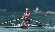 Lucerne, Switzerland. 1995 FISA WC III, Lake Rottsee, Lucerne,<br /> CAN W1X. Silken LAUMANN.<br /> [Mandatory Credit. Peter SPURRIER/Intersport Images]<br /> <br /> Image scanned from Colour Negative