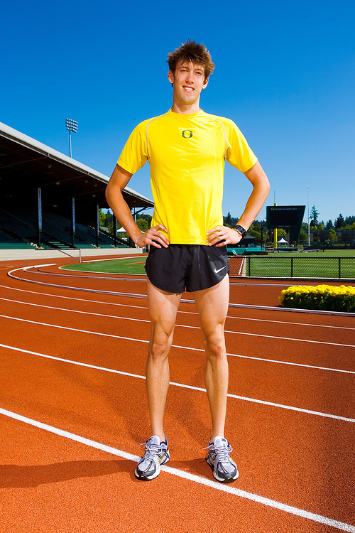Andrew Keating, distance runner for the Oregon Ducks and the US Olympic Team, sponsored by Nike