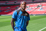 Forest Green Rovers Shamir Mullings(18) on the Wembley Stadium familiarisation trip during the Vanarama National League Play Off Final match between Tranmere Rovers and Forest Green Rovers at Wembley Stadium, London, England on 14 May 2017. Photo by Shane Healey.