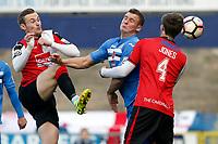 Josh Amis. Stockport County Football Club 2-4 Woking Football Club, Emirates FA Cup first round, 5.11.16.