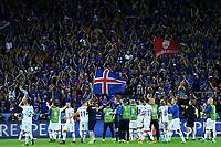 Iceland players celebrate with fans Esultanza fine partita Islanda <br /> Saint-Etienne 14-06-2016 Stadium Geoffroy-Guichard Football Euro2016 Portugal-Iceland / Portogallo-Islanda Group Stage Group F<br /> Foto Massimo Insabato / Insidefoto