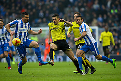 John Mousinho of Burton Albion passes the back under pressure - Mandatory by-line: Jason Brown/JMP - 11/02/2017 - FOOTBALL - Amex Stadium - Brighton, England - Brighton and Hove Albion v Burton Albion - Sky Bet Championship