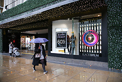 November 19, 2018 - London, United Kingdom - Shoppers are seen at the LondonÃ•s Oxford Street as the House of Fraser prepares for the Black Friday Event with huge savings..Black Friday is a shopping event that originated from the US where retailers cut prices on the day after the Thanksgiving holiday. (Credit Image: © Dinendra Haria/SOPA Images via ZUMA Wire)
