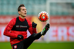 25.03.2016, Stadium Municipal, Wroclaw, POL, Training Fußballnationalmannschaft Polen, im Bild Arkadiusz Milik // during a practice session of Polish national football team before tomorrow friendly match between Poland and Finland at the Stadium Municipal in Wroclaw, Poland on 2016/03/25. EXPA Pictures © 2016, PhotoCredit: EXPA/ Newspix/ Sebastian Borowski<br /> <br /> *****ATTENTION - for AUT, SLO, CRO, SRB, BIH, MAZ, TUR, SUI, SWE only*****