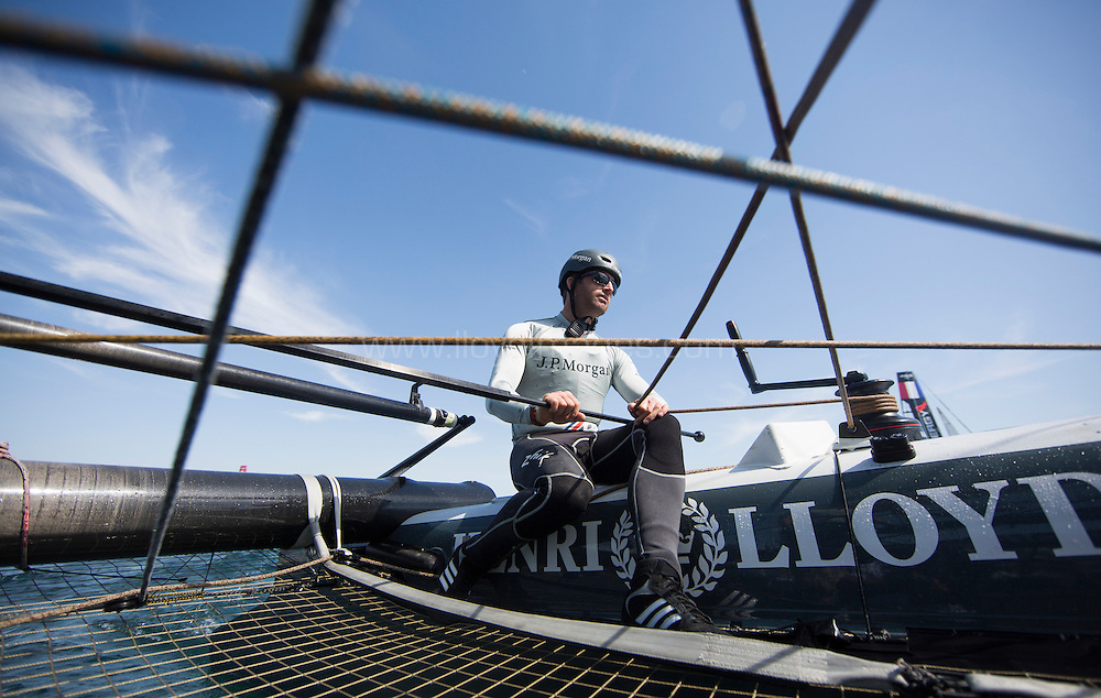 America's Cup World Series Naples/ ACWS Naples. Italy. The J.P.Morgan BAR AC45 skippered by Ben Ainslie..Please credit: Lloyd Images