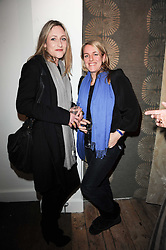 Left to right, LADY ROSE ANSON and LAURA LOPES at the opening of Luke Irwin's showroom at 22 Pimlico Road, London SW1 on 24th November 2010.