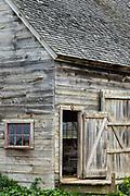Rustic wooden barn, West Tisbury, Martha's Vineyard, Massachusetts, USA.